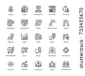 project management vector icons ... | Shutterstock .eps vector #733455670