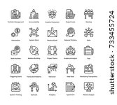 project management vector icons ... | Shutterstock .eps vector #733455724