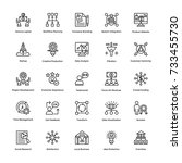 project management vector icons ... | Shutterstock .eps vector #733455730