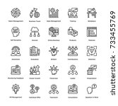 project management vector icons ... | Shutterstock .eps vector #733455769
