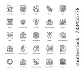 project management vector icons ... | Shutterstock .eps vector #733455778
