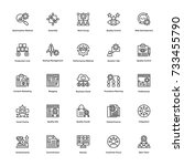 project management vector icons ... | Shutterstock .eps vector #733455790