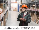 wholesale  logistic  people and ... | Shutterstock . vector #733456198