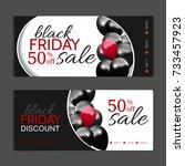 black friday gift voucher... | Shutterstock .eps vector #733457923