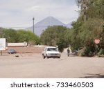 sant pedro de atacama  chile ...   Shutterstock . vector #733460503