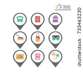 simple travel icons set.vector...