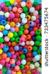 colourful beads | Shutterstock . vector #733475674