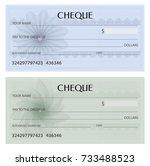 check  cheque   chequebook... | Shutterstock .eps vector #733488523