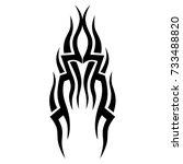 tattoo tribal vector design.... | Shutterstock .eps vector #733488820