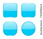 blue buttons. 3d illustration... | Shutterstock . vector #733490614