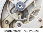 details of watches and... | Shutterstock . vector #733493323