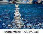 Heart Stone Pyramid On A...