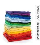 Rainbow Clothes Pile. Bright...