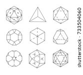 geometric figures. archimedes'... | Shutterstock .eps vector #733504060