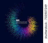 color gradient dots make up the ... | Shutterstock .eps vector #733507249