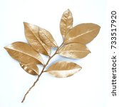 golden leaf design elements.... | Shutterstock . vector #733517920