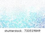 light gray vector polygonal... | Shutterstock .eps vector #733519849