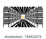 mining farm. extraction of... | Shutterstock .eps vector #733522273