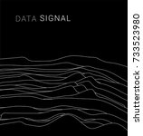 signal decay. abstract lines ... | Shutterstock .eps vector #733523980