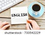 english   english sticker    Shutterstock . vector #733542229