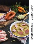 hearty traditional dutch pea... | Shutterstock . vector #733542844