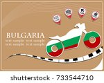 motorcycle logo made from the... | Shutterstock .eps vector #733544710