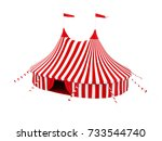 circus tent isolated. 3d... | Shutterstock . vector #733544740