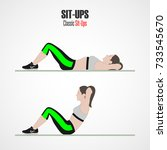 sit ups. sport exercises. stage ...