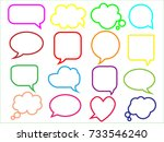 blank empty speech bubbles for... | Shutterstock .eps vector #733546240