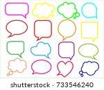 blank empty speech bubbles for...   Shutterstock .eps vector #733546240