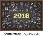 hand drawn business icons about ...   Shutterstock .eps vector #733549618