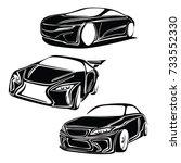 car vector   Shutterstock .eps vector #733552330