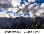 mountains in madeira island. | Shutterstock . vector #733554190