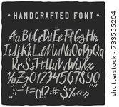 handcrafted script typeface... | Shutterstock .eps vector #733555204