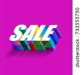 colorful sale sign on a bright... | Shutterstock .eps vector #733555750