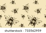 vector seamless pattern with... | Shutterstock .eps vector #733562959