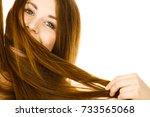 haircare and hairstyling...   Shutterstock . vector #733565068