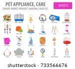 pet appliance icon set flat... | Shutterstock .eps vector #733566676