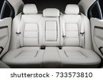 back passenger seats in modern...   Shutterstock . vector #733573810