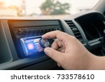 car audio system.music player... | Shutterstock . vector #733578610