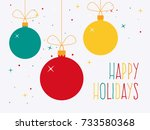 happy holidays. colorful... | Shutterstock .eps vector #733580368