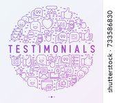 testimonials and quote concept... | Shutterstock .eps vector #733586830