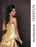 vogue. beautiful fashion model...   Shutterstock . vector #733597174