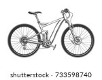 sport race bicycle with fat... | Shutterstock .eps vector #733598740