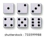 set of vector realistic white...   Shutterstock .eps vector #733599988