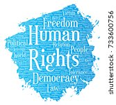 conceptual human rights... | Shutterstock . vector #733600756