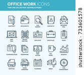 business and office work.... | Shutterstock .eps vector #733601578