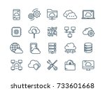 cloud omputing. internet... | Shutterstock .eps vector #733601668