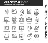 business and office work.... | Shutterstock .eps vector #733601698