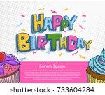vector of hand drawn happy...   Shutterstock .eps vector #733604284
